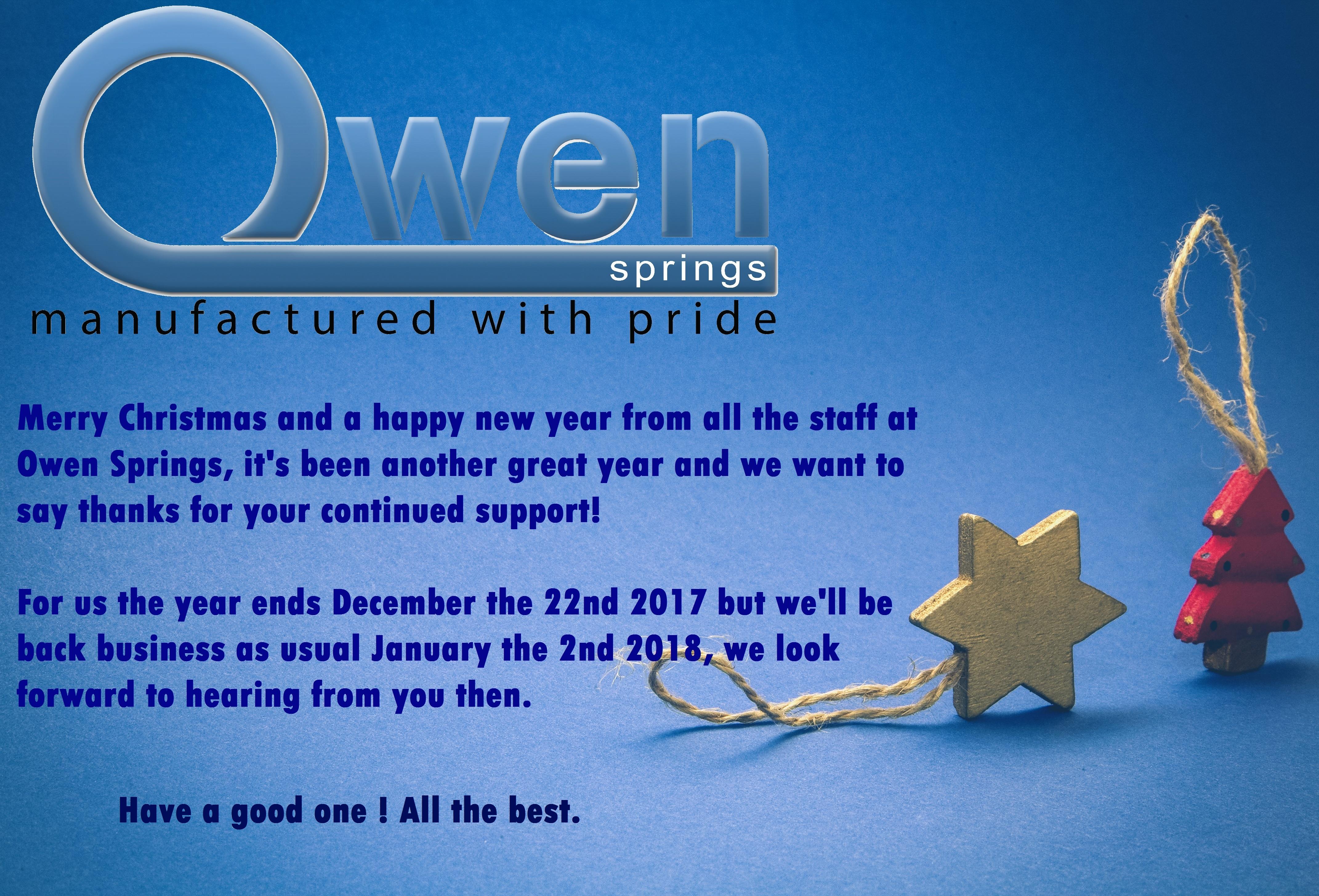 Spring Forward Back To Winter In Owen >> Merry Christmas Owen Springs